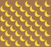 Seamless moon pattern on brown background Stock Photos