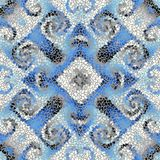 Seamless mosaic art pattern. Seamless background pattern. Irregular decorative geometric mosaic art tile pattern from uneven broken pieces Royalty Free Stock Photography
