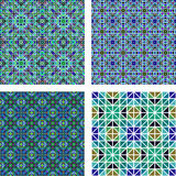 Seamless mosaic background set Stock Photos