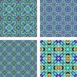 Seamless mosaic background set Stock Photos