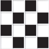 Seamless mosaic from black and white squares Royalty Free Stock Photos