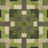 Seamless mosaic concrete pavement Royalty Free Stock Photo