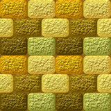 Seamless mosaic 3d pattern of coarse rounded rectangles stock illustration