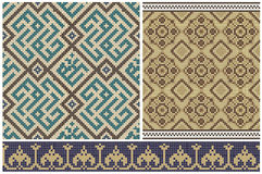 Seamless mosaic friezes and decors. Royalty Free Stock Image