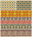 Seamless mosaic friezes and decors Royalty Free Stock Photography