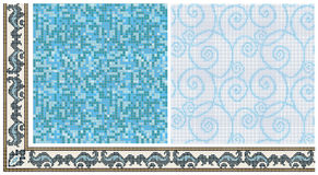 Seamless mosaic friezes and decors. Royalty Free Stock Photography