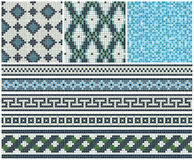 Seamless mosaic friezes and decors Royalty Free Stock Photo