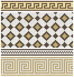 Seamless mosaic friezes and decors Royalty Free Stock Image