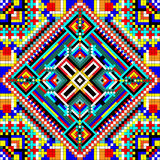 Seamless mosaic of geometric ornament with squares and diamonds Stock Image
