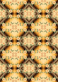 Seamless mosaic gradient with pattern of yellow fl Stock Photos