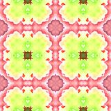 Seamless mosaic grid pattern in pink and green Stock Image