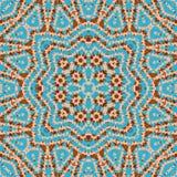 Seamless mosaic kaleidoscope pattern in blue brown Royalty Free Stock Photos