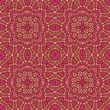 Seamless mosaic kaleidoscope pattern in red Royalty Free Stock Images