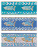 Seamless mosaic in marine style Royalty Free Stock Photography
