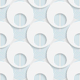Seamless Mosaic Pattern. Abstract 3d Realistic Background. Modern Fine Wallpaper. White Fashion Design Stock Photo