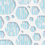 Seamless Mosaic Pattern. Abstract 3d Realistic Background. Modern Fine Wallpaper. White Fashion Design Stock Photography