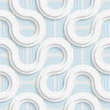 Seamless Mosaic Pattern. Abstract 3d Realistic Background. Modern Fine Wallpaper. White Fashion Design Stock Image