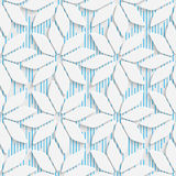 02-0016-02. Seamless Mosaic Pattern. Abstract 3d Realistic Background. Modern Fine Wallpaper. White Fashion Design Stock Illustration