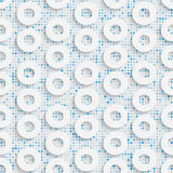 02-0088-01. Seamless Mosaic Pattern. Abstract 3d Realistic Background. Modern Fine Wallpaper. White Fashion Design stock illustration