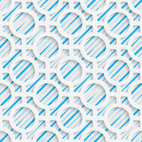 Seamless Mosaic Pattern. Abstract 3d Realistic Background. Modern Fine Wallpaper. White Fashion Design Stock Photos