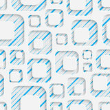 Seamless Mosaic Pattern. Abstract 3d Realistic Background. Modern Fine Wallpaper. White Fashion Design Royalty Free Stock Image