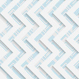 Seamless Mosaic Pattern. Abstract 3d Realistic Background. Modern Fine Wallpaper. White Fashion Design Royalty Free Stock Photography