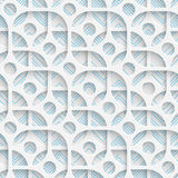 Seamless Mosaic Pattern. Abstract 3d Realistic Background. Modern Fine Wallpaper. White Fashion Design royalty free illustration