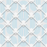 Seamless Mosaic Pattern. Abstract 3d Realistic Background. Modern Fine Wallpaper. White Fashion Design Royalty Free Stock Photo