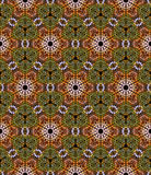 Seamless mosaic pattern in autumn foliage colors Royalty Free Stock Photo