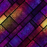 Seamless mosaic pattern. Seamless background pattern. Mosaic art pattern of rectangles of different tile textures Royalty Free Stock Photography