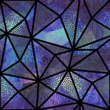 Seamless mosaic pattern. Seamless background pattern. Mosaic art pattern of triangles of different tile textures. Vector image Royalty Free Stock Photography