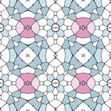 Seamless mosaic pattern or background - blue, pink and white Stock Images