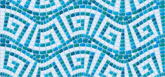 Seamless mosaic pattern - Blue ceramic tile Royalty Free Stock Photography
