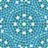 Seamless mosaic pattern - Blue ceramic tile. Classical geometric ornament. Ready to use as swatch royalty free illustration