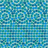 Seamless mosaic pattern - Blue ceramic tile Vector Illustration