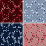 Seamless mosaic pattern set. Seamless colored mosaic pattern set Royalty Free Stock Image