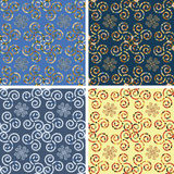 Seamless mosaic pattern set. Seamless colored mosaic pattern set Royalty Free Stock Photography