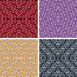 Seamless mosaic pattern set. Seamless colored mosaic pattern set Royalty Free Stock Images