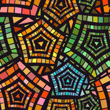 Seamless Mosaic Pattern for Textile Design Stock Images