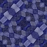 Seamless mosaic texture. Vector blue kaleidoscope royalty free illustration
