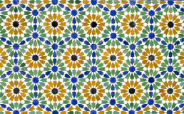 Seamless mosaic tile pattern as a background.  Royalty Free Stock Photography