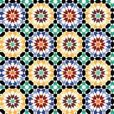 Seamless mosaic tile pattern vector Royalty Free Stock Image