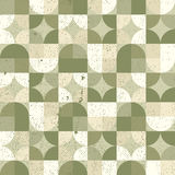 Seamless mosaic tiles pattern in retro style. Royalty Free Stock Photos