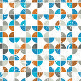 Seamless mosaic tiles pattern in retro style. Stock Photo
