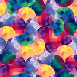 Seamless mosaic vector pattern Stock Images