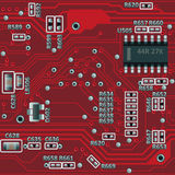 Seamless motherboard pattern Stock Photos