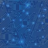 Seamless motherboard pattern Royalty Free Stock Images