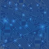 Seamless motherboard pattern Royalty Free Stock Photo
