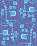 Seamless motherboard style pattern Stock Images