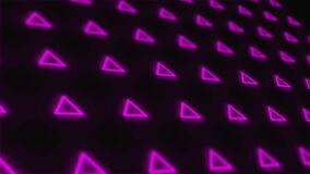 Seamless motion graphics animate triangle background
